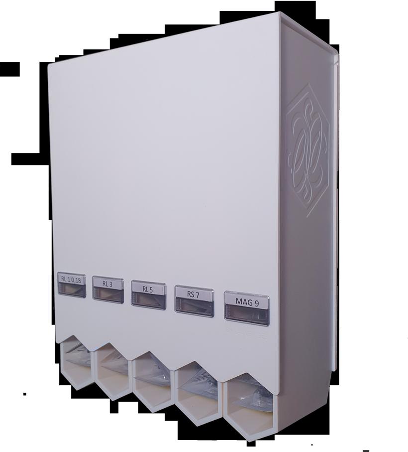 Matte-white-stinger-storage